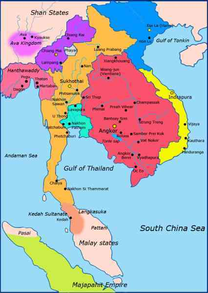 map of east and southeast asia