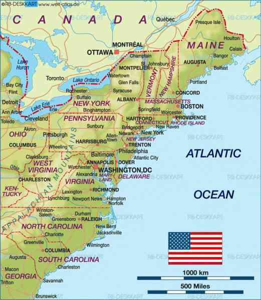 East Coast Map With Cities MAP - Us map with cities