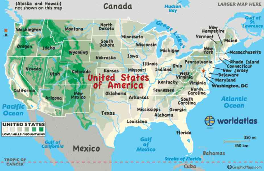 United States Of America Map Games Tgwebfiles - Map of the east coast of the us