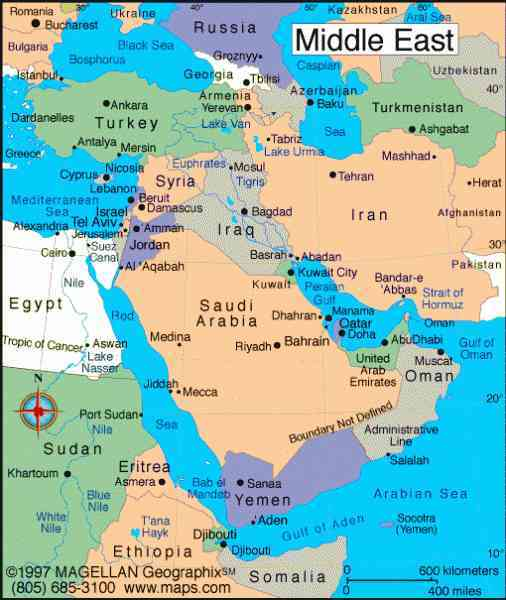 Map Of Egypt And The Middle East Map Holiday Travel - Un map of egypt