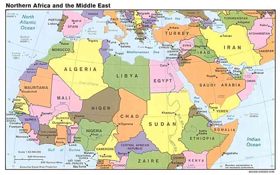 Map Of Egypt And The Middle East Map Holiday Travel - Map of egypt and middle east