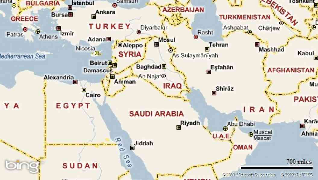 Map Of Egypt And The Middle East  Map  Holiday  Travel