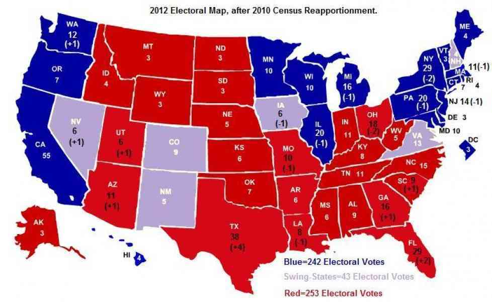map of electoral votes 2012 84 Map Of Electoral Votes 2012