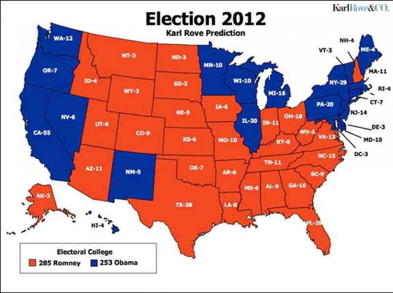 map of electoral votes 2012 224 Map Of Electoral Votes 2012