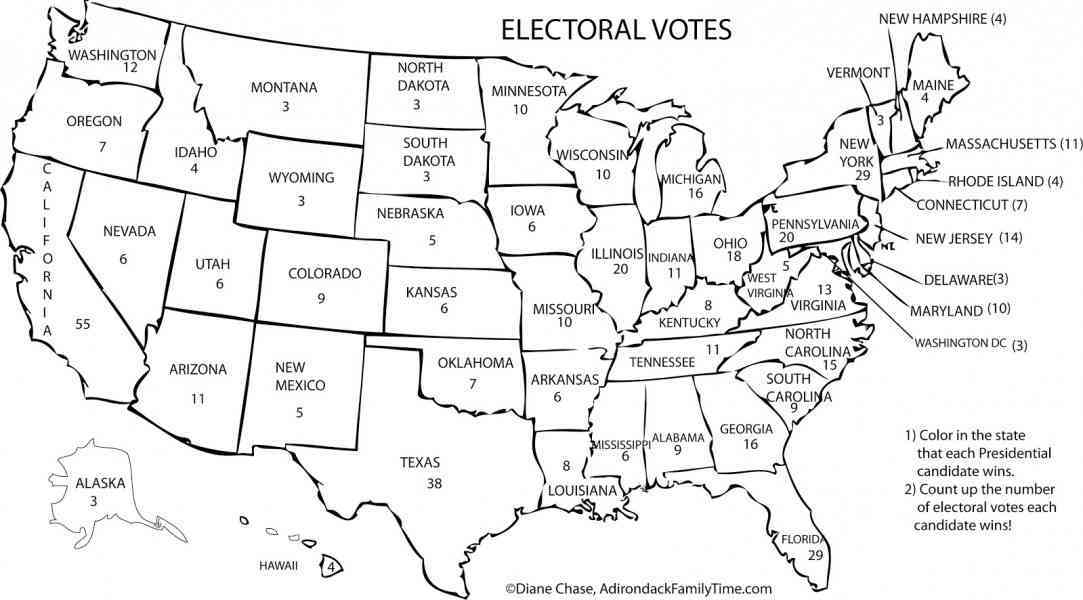 map of electoral votes 527 Map Of Electoral Votes