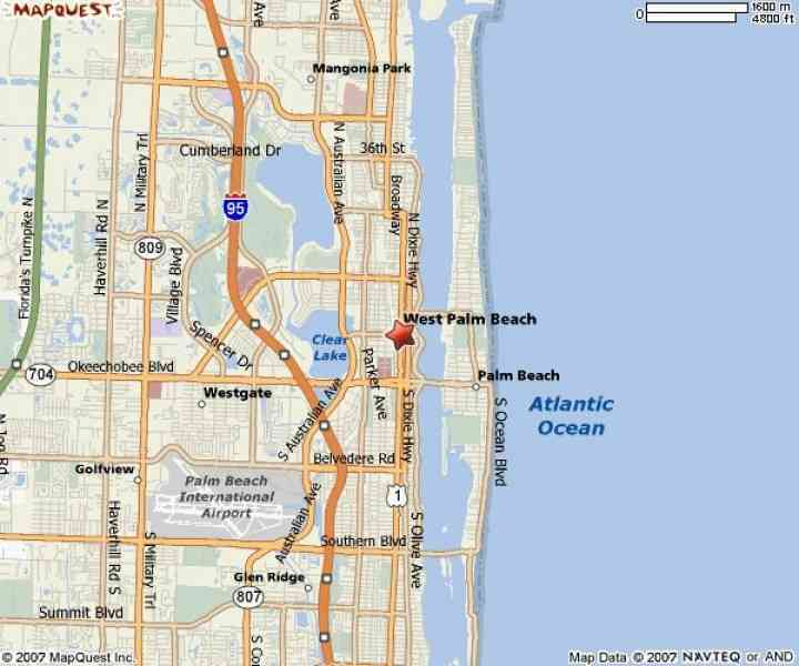 Map Of Florida West Palm Beach Map Holiday Travel - Palm beach florida map