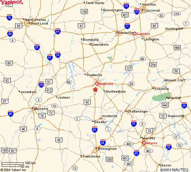 Map Of Franklin Tennessee