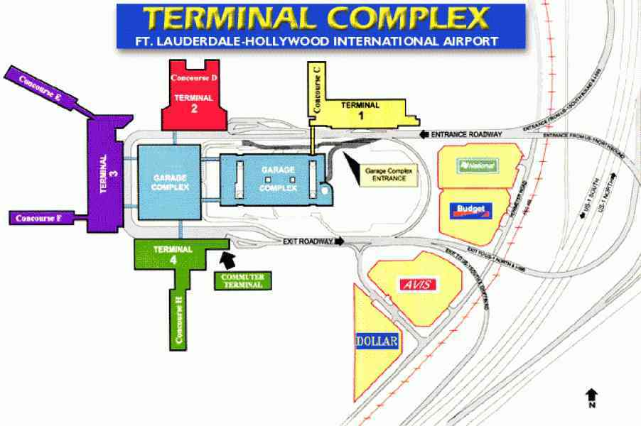 map of ft lauderdale airport 6 Map Of Ft Lauderdale Airport