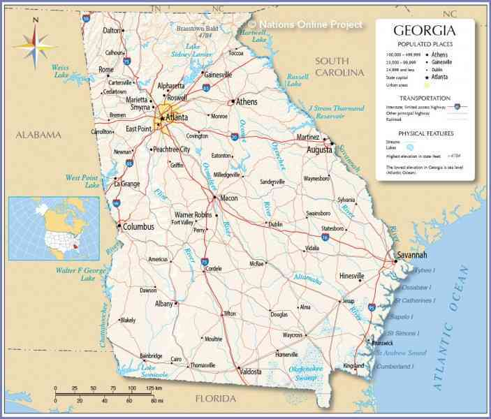 map of ga cities 162 Map Of Ga Cities