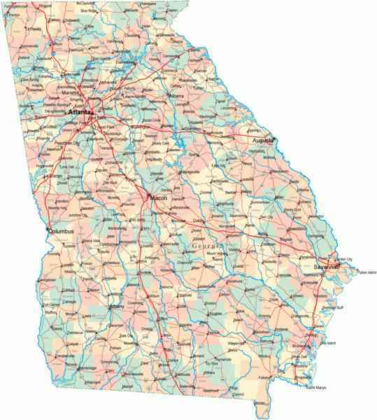 map of ga cities 758 Map Of Ga Cities