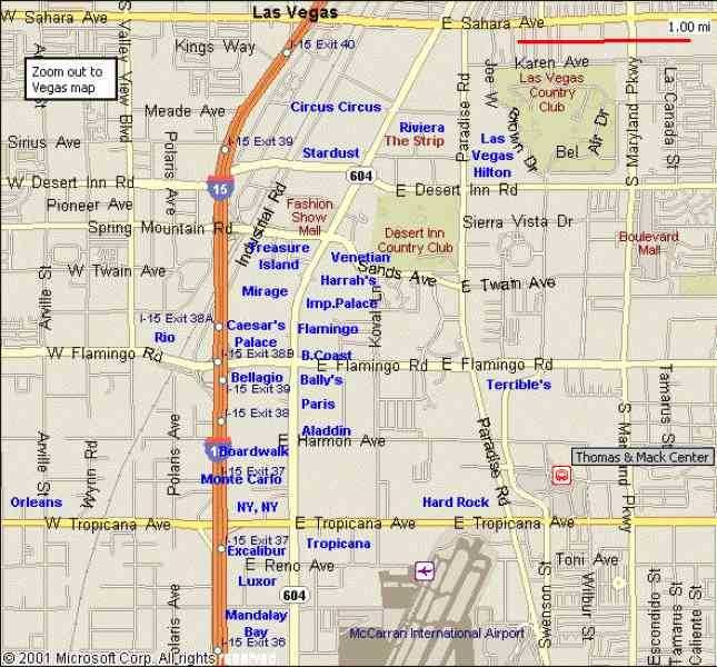Map Of Hotels On Strip Las Vegas  Map  Holiday  Travel