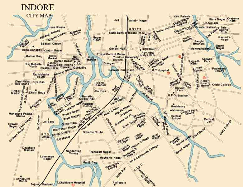 map of indore city 7 Map Of Indore City