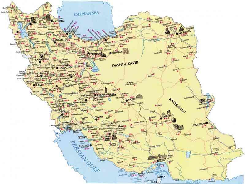 map of iran 10 Map Of Iran