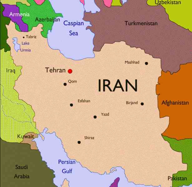 map of iran 190 Map Of Iran