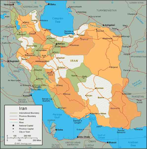 map of iran 503 Map Of Iran