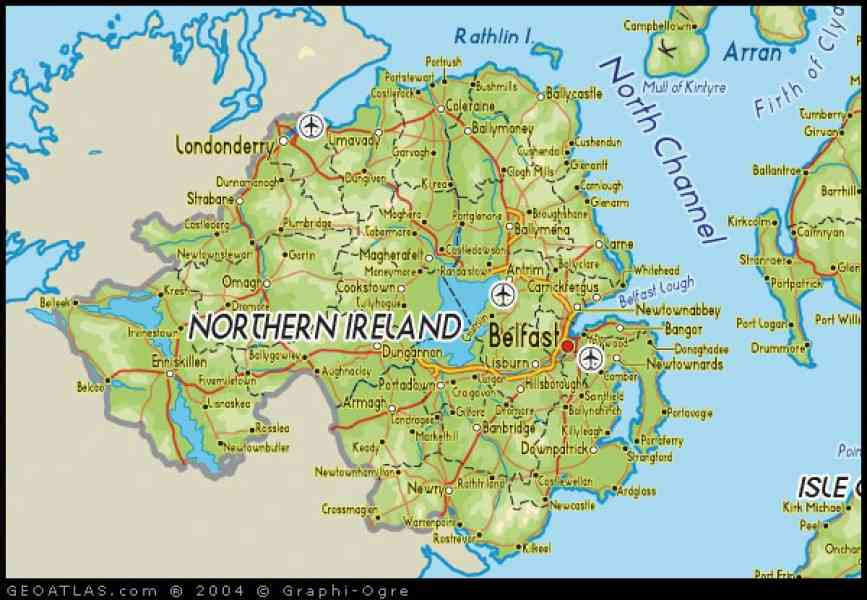 Map Of Ireland And Northern Ireland Map Holiday Travel - Cities map of ireland