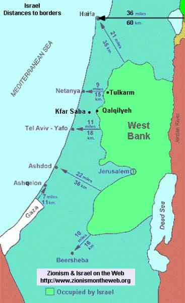map of israel and palestine 4 Map Of Israel And Palestine