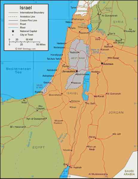 map of israel and palestine 105 Map Of Israel And Palestine
