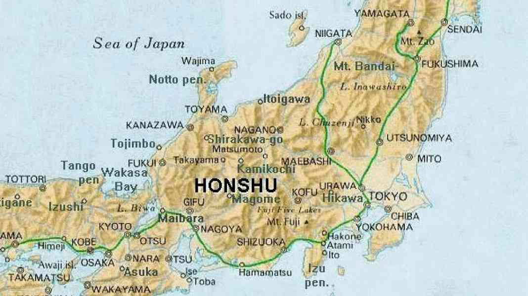 Map Of Japan Honshu  Map  Holiday  Travel HolidayMapQcom