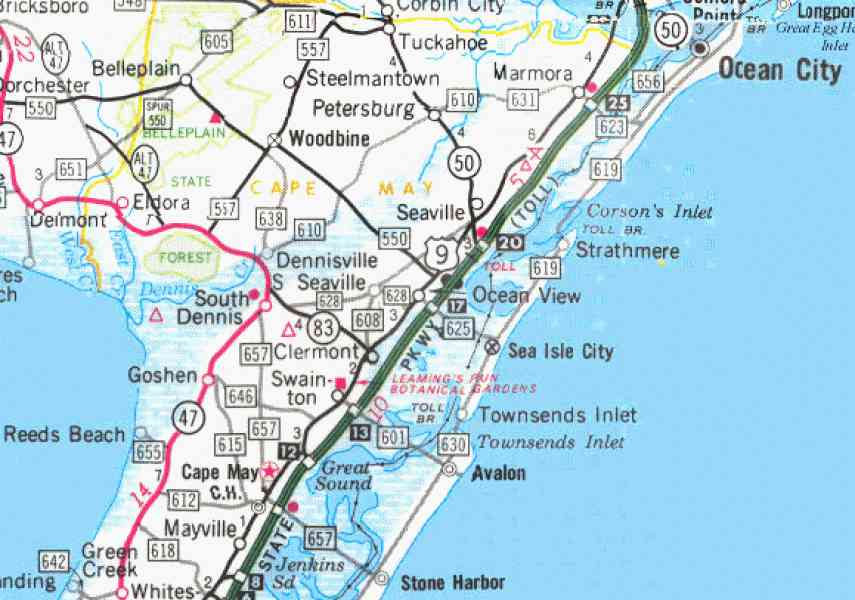 map of jersey shore 133 Map Of Jersey Shore