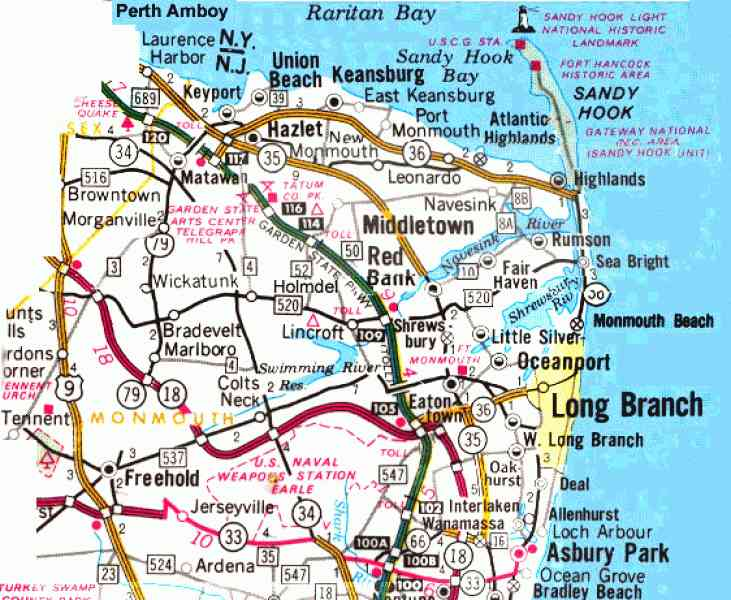 map of jersey shore 378 Map Of Jersey Shore