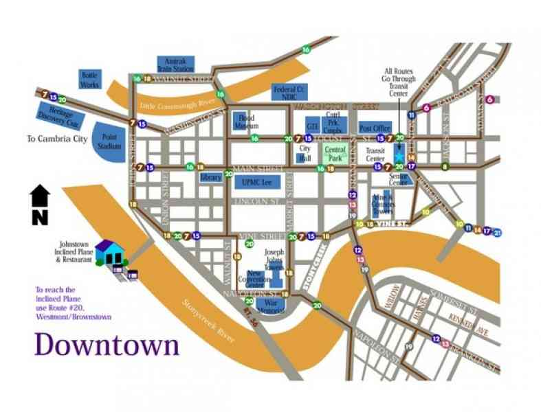 map of johnstown 168 Map Of Johnstown