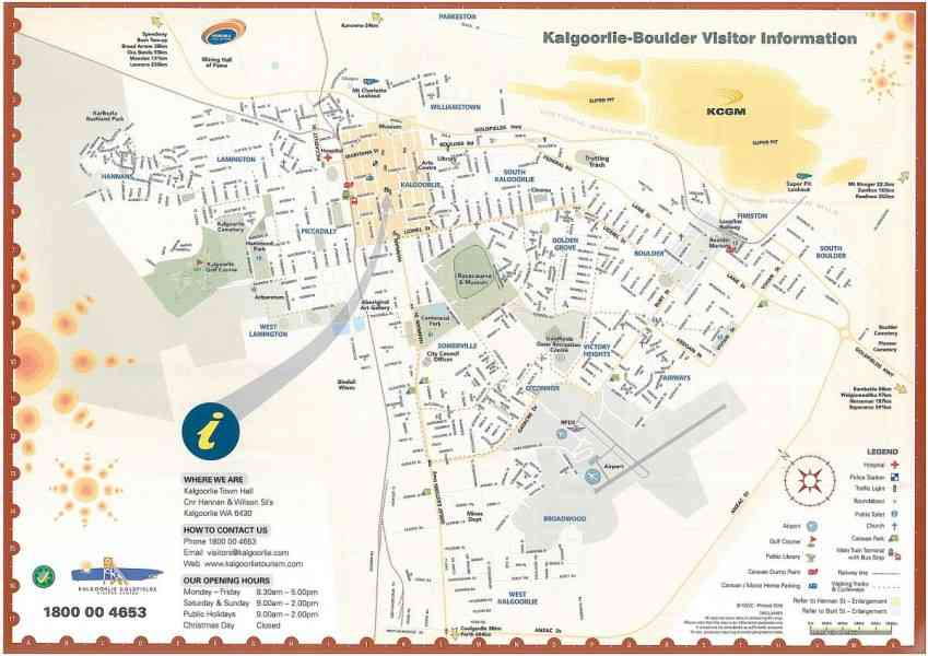 map of kalgoorlie 136 Map Of Kalgoorlie