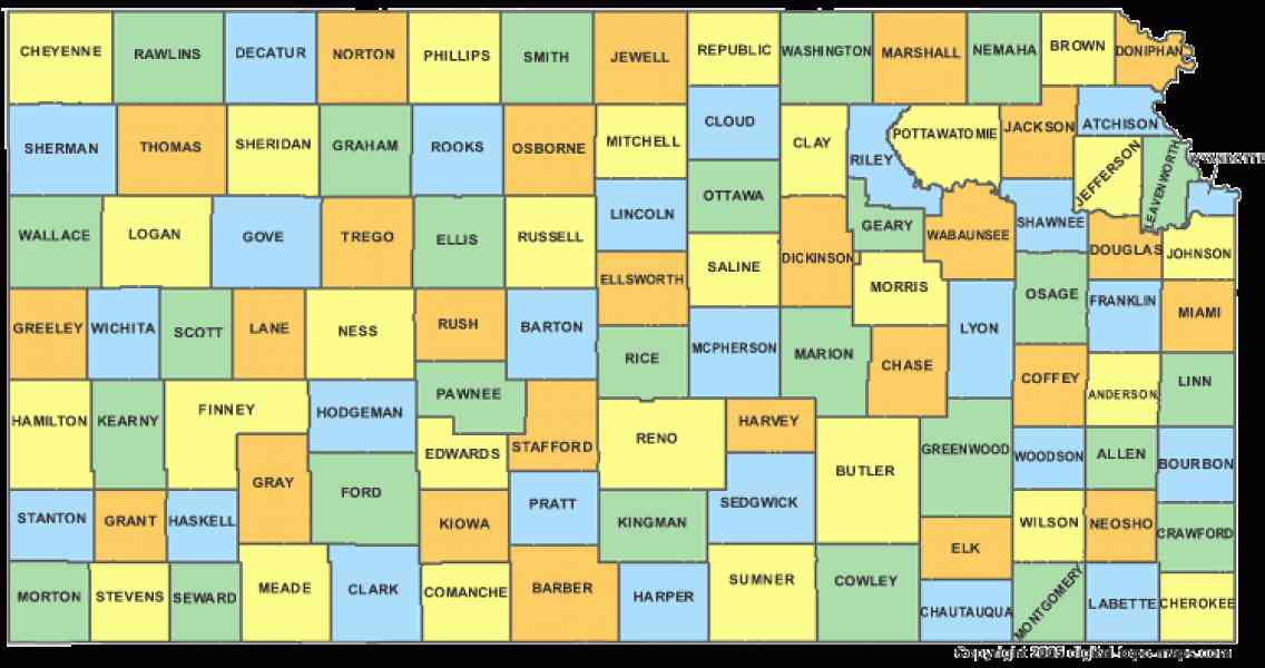 map of kansas with counties 184 Map Of Kansas With Counties