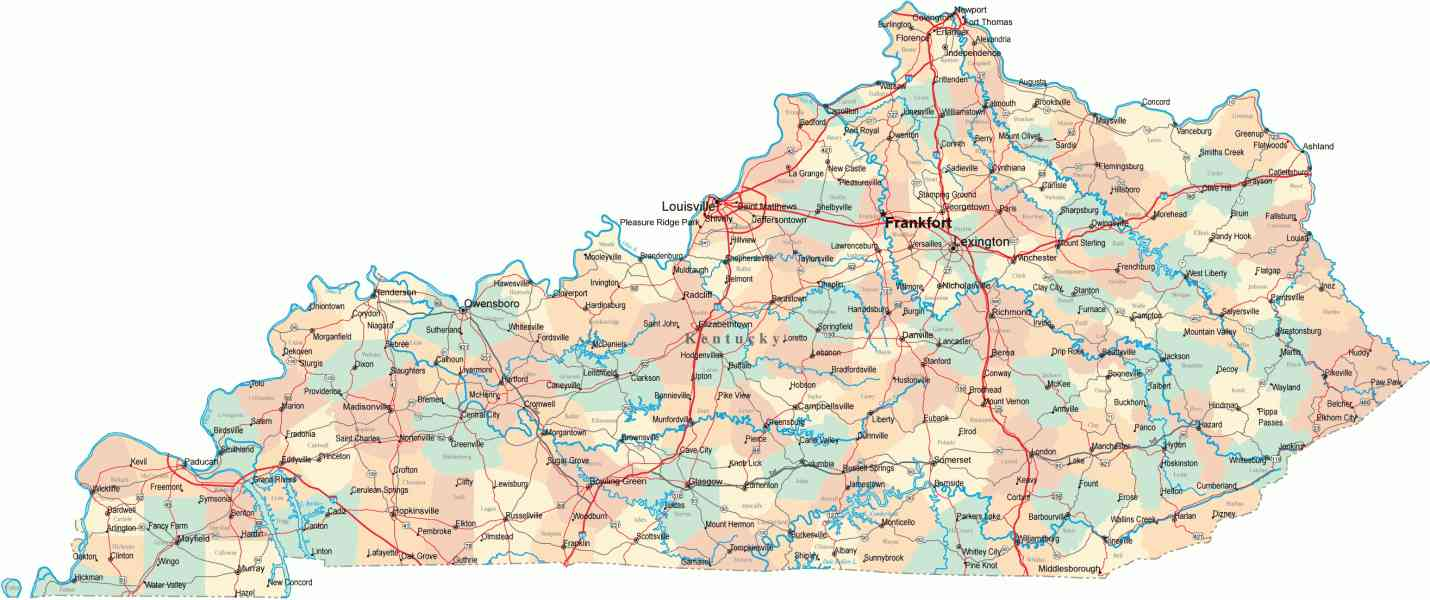 Map Of Ky Cities Map Holiday Travel HolidayMapQcom - Kentucky cities map