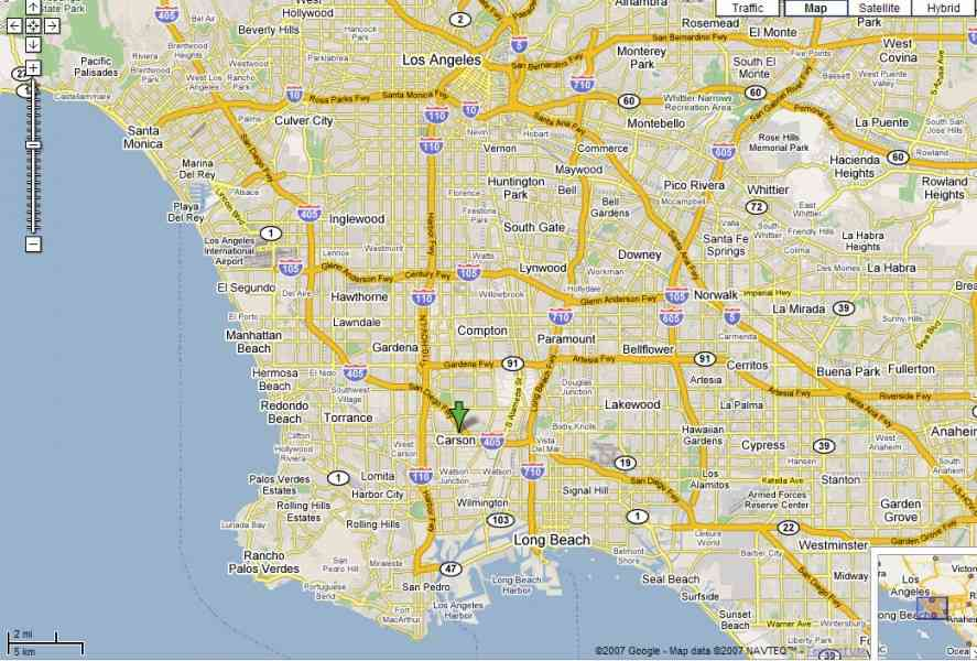map of l a 59 Map Of L A