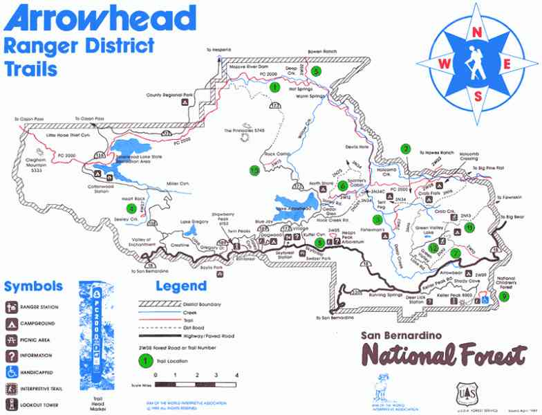Map of lake arrowhead for Lake arrowhead fishing