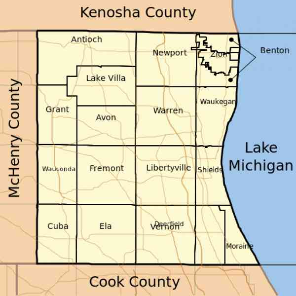 map of lake county illinois 187 Map Of Lake County Illinois