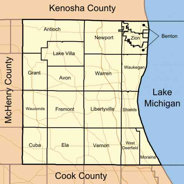 map of lake county illinois 185 Map Of Lake County Illinois