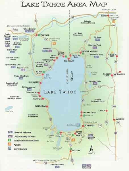 Map Of Lake Tahoe 129 Map Of Lake Tahoe