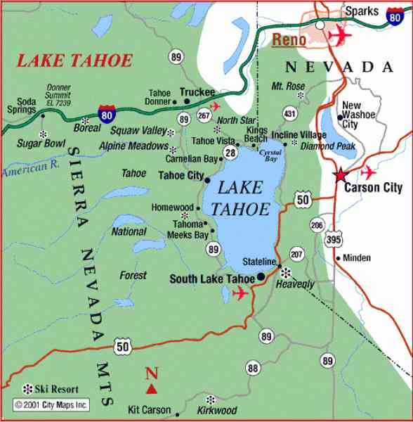 Map Of Lake Tahoe 201 Map Of Lake Tahoe