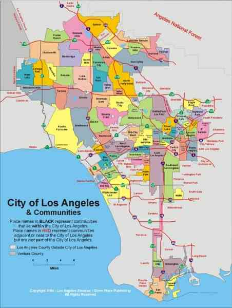 map of los angeles 3 Map Of Los Angeles