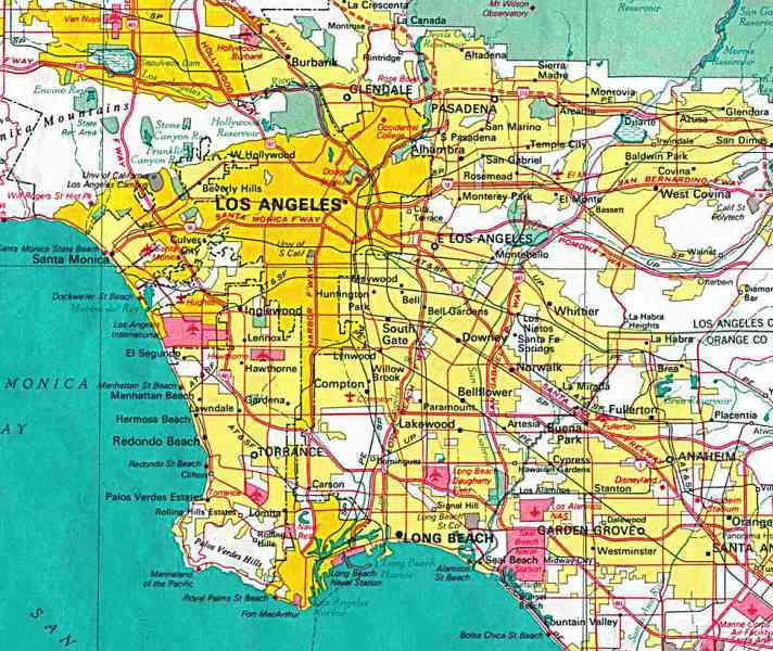 map of los angeles 646 Map Of Los Angeles