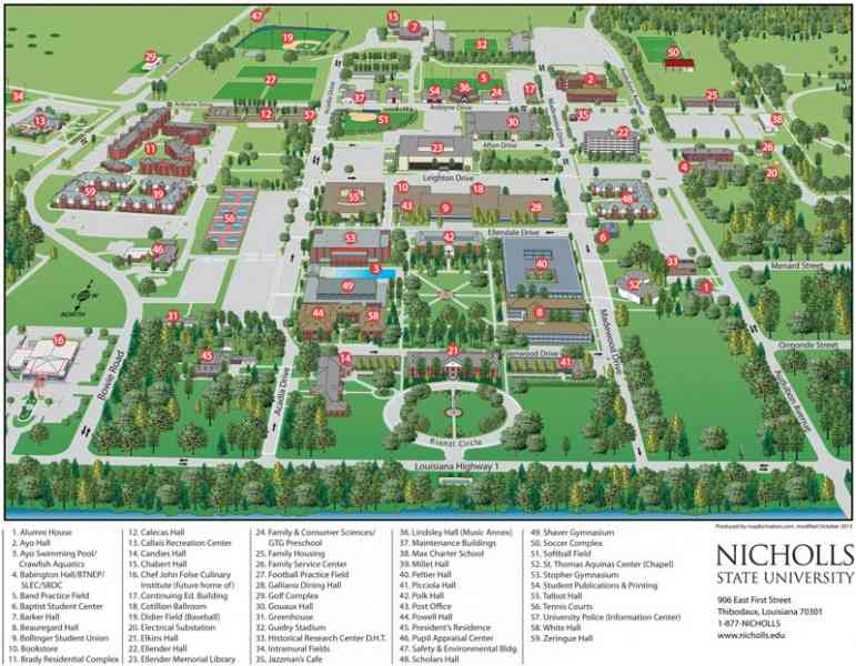 Grambling State University Campus Map.Map Of Louisiana State University Www Imagessure Com