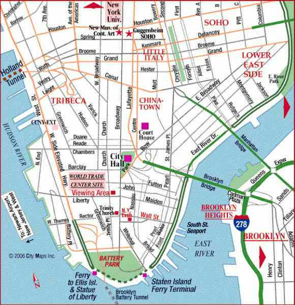 Agile image throughout printable map of lower manhattan streets