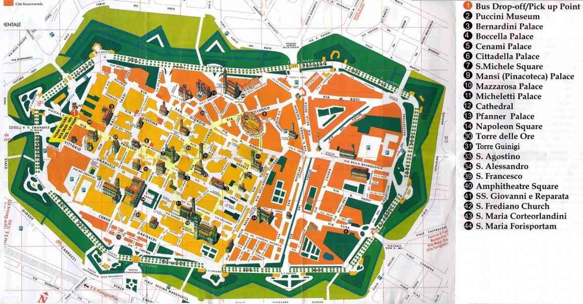 map of lucca italy 373 Map Of Lucca Italy