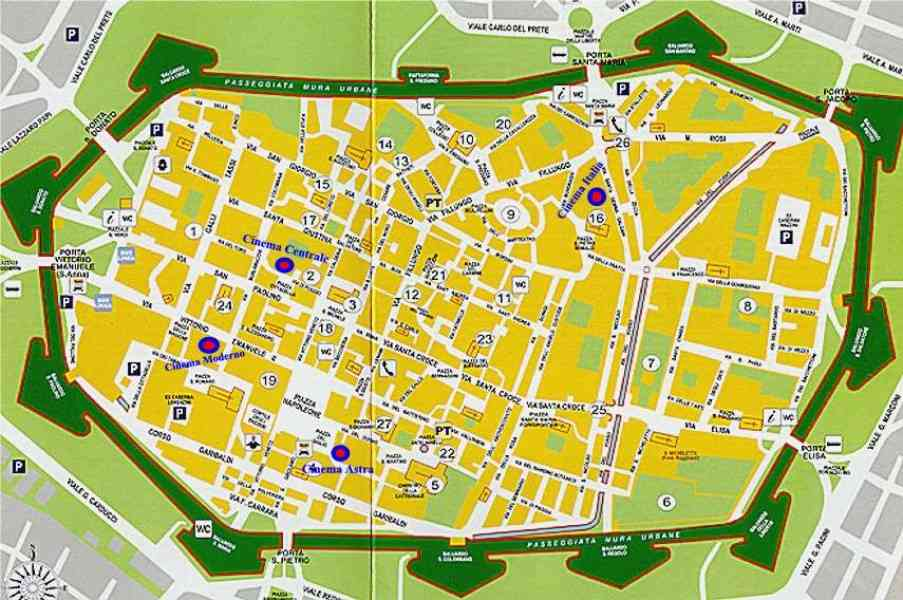map of lucca italy 425 Map Of Lucca Italy