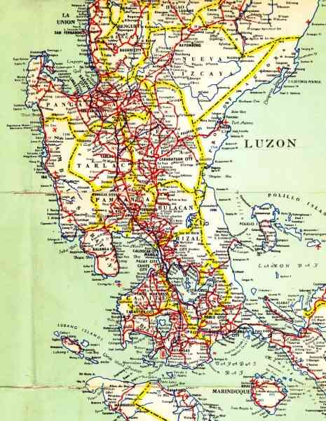 map of luzon 698 Map Of Luzon