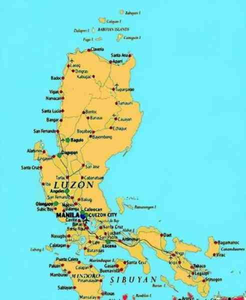 map of luzon philippines holidaymapq Â