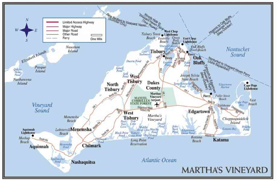 map of martha vineyard 2 Map Of Martha Vineyard