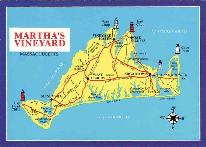 map of martha vineyard 195 Map Of Martha Vineyard