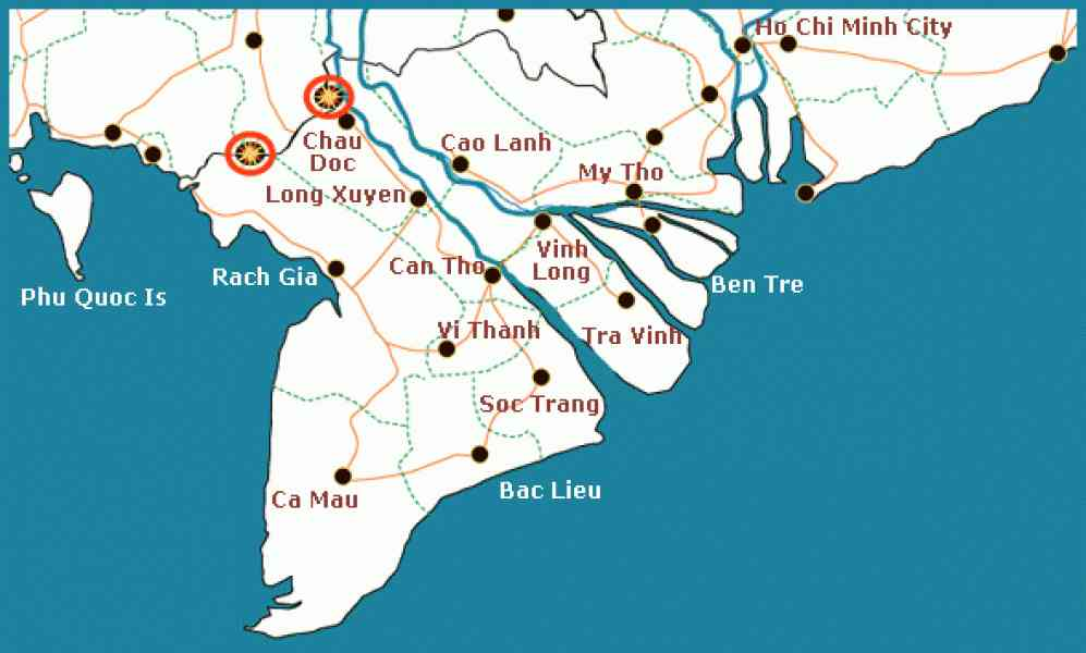 Map Of Mekong Delta - ...