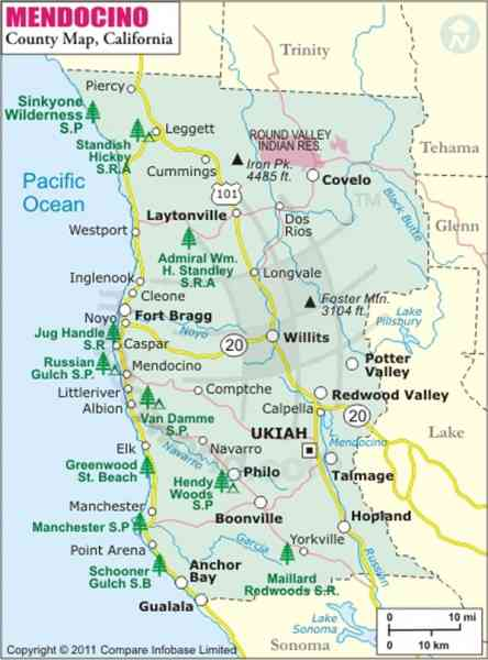 map of mendocino county 99 Map Of Mendocino County