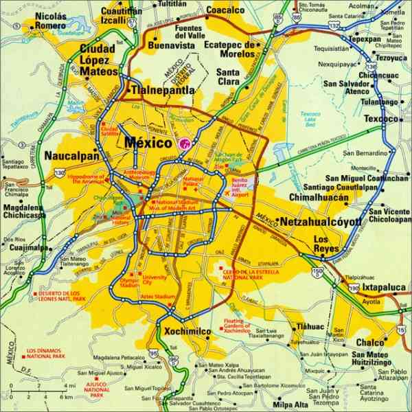 Map Of Mexico City Map Holiday Travel HolidayMapQcom - A map of mexico