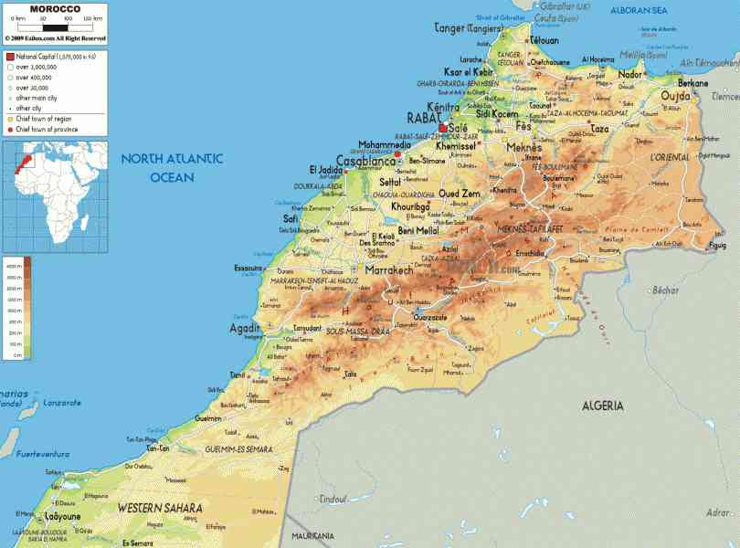 map of morocco 8 Map Of Morocco