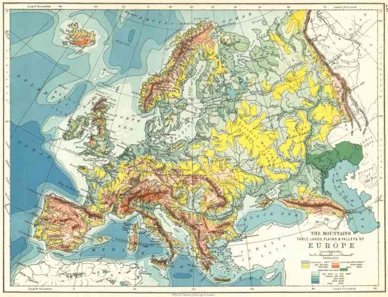 map of mountains in europe 130 Map Of Mountains In Europe